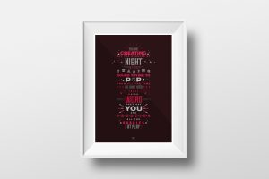 Bubbles by Biffy Clyro - Lyric Poster